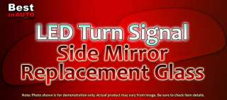 Right RH Red Light LED Turn Signal Mirror Side Glass GM Truck
