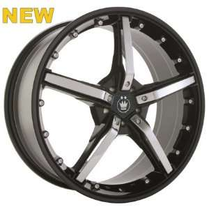 19x8 Konig Hotswap (Gloss Black w/ Chrome Spokes) Wheels/Rims 5x110