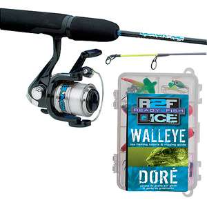 Ready 2 Fish Ice Walleye Spin Combo with Kit Fishing