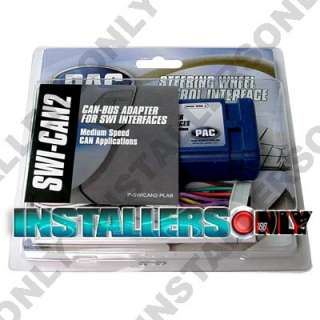 PAC SWI CAN2 CAN BUS STEERING WHEEL ADAPTER INTERFACE