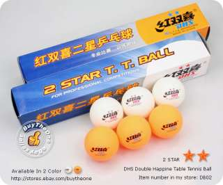 12PCS DHS 2 Star Table Tennis Ping Pong Balls C.T.T.A
