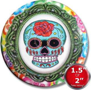 of the Dead Sugar Skull de los muertos Drawer Cabinet Knob Pull