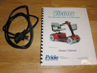 Victory Pride Mobility Power Scooter Chair +Manual,+Walker Holder