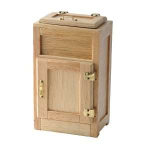 Dollhouse Miniaure 2 Door Oak Ice Box oys & Games