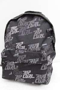RIP CURL BLACK A4 BACKPACK SCHOOL BAG TRAVEL CASE BNWL