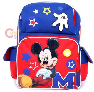 Disney Mickey Mouse School Backpack/Bag 16 Large Star