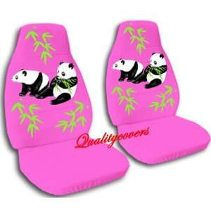 2 hot pink Panda car seat covers for a 2000 Pontiac