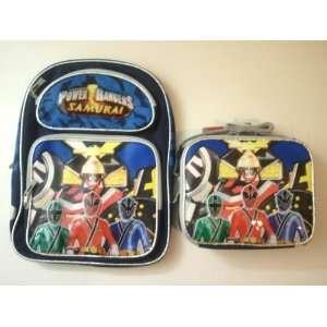 Power Rangers Samurai Large Backpack + Lunch Bag SET