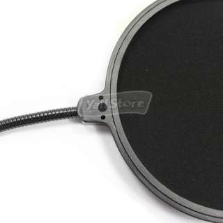 Studio Microphone Mic Wind Screen Pop Filter Mask Shied