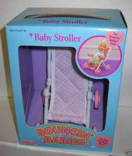 RARE Vintage NIB Galoob Bouncin Babies Baby Stroller