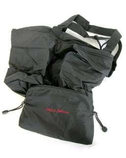Rick Steves Black Hideaway Nylon Compact Travel Tote Bag purse handbag