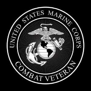 USMC MARINES COMBAT VETERAN T SHIRT BLACK ** L XXXL **