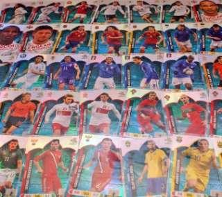 PANINI UEFA EURO 2012 FANS FAVOURITES M Z CARDS FREE UK POSTAGE