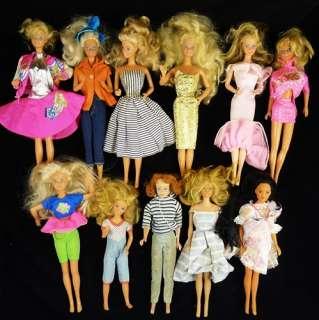 Vintage BARBIE Mattel DOLLS 1963 Midge FRIENDS 11 pieces LOT TNT Twist