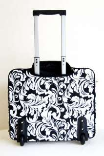 16 Computer/Laptop Briefcase Rolling Wheel Padded Travel Bag White