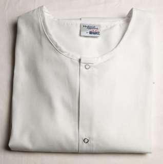 MENs Nursing Nurse Scrub Jacket L LARGE   WHITE