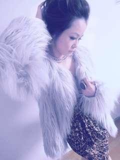 New Womens Fashion Casual Faux Fur Coats Jackets Blacks, Whites, Grays